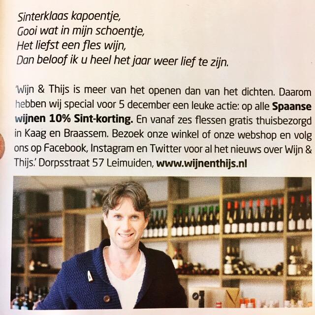 Sinterklaas Gedicht Sint Korting Wijn En Thijs Wijn Thijs